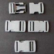 Bild 1 Gurtband - Steckschließer Grau 25 mm breit