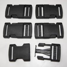 Bild 1 Gurtband - Steckschließer Schwarz 25 mm breit