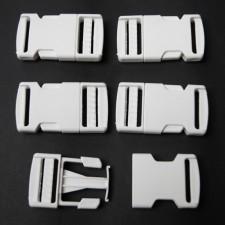 Bild 1 Gurtband - Steckschließer Weiß 25 mm breit