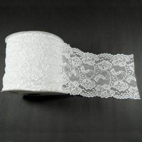 Elastische Spitze Weiss 15,5 cm breit Nr. 59