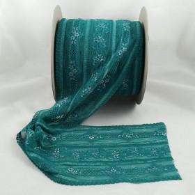 Elastische Spitze Türkis 16,5 cm breit Nr. 134