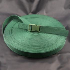 Gurtband Taschengurt Grün 25 mm breit