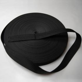 Gurtband Taschengurt Schwarz 25 mm breit