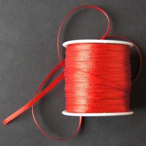 Bild 1 5 Meter Dekoband Rot glänzend 4 mm breit