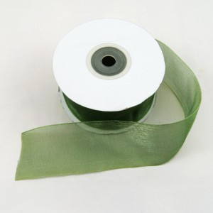 Bild 1 Organzaband Grün 40 mm breit