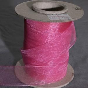 Bild 2 Organzaband Rosa 25 mm breit