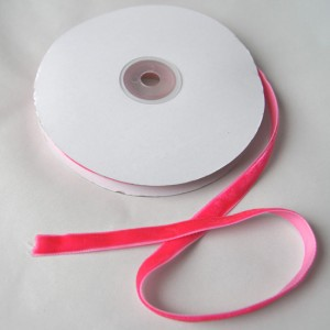 Bild 1 Samtborte Pink 9 mm breit