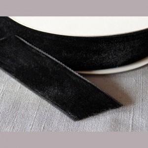 Bild 1 Samtborte Schwarz 16 mm breit
