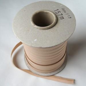 Bild 1 Schrägband Baumwolle Beige gefälzt 13 mm breit