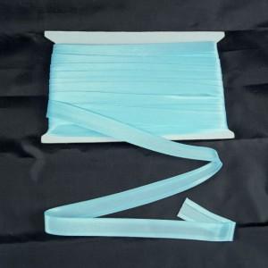 Bild 1 Schrägband Satin Hellblau gefälzt 15 mm breit