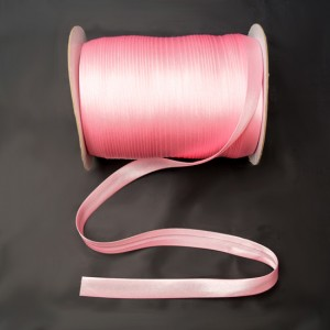 Bild 1 Schrägband Satin Rosa 15 mm breit