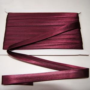 Bild 1 Schrägband Satin Weinrot gefälzt 15 mm breit