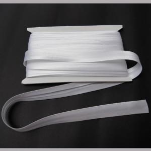 Bild 1 Schrägband Satin Weiß gefälzt 15 mm breit