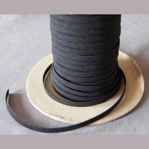 Bild 1 Gummiband Schwarz 8 mm breit