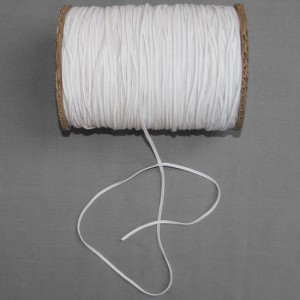 Bild 1 Gummiband Weiß 3 mm breit