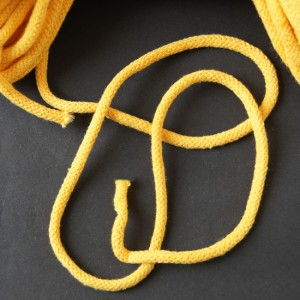 Bild 2 Kordel Baumwolle Gelb 5 mm
