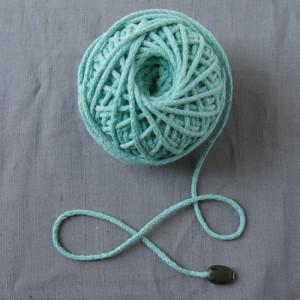 Bild 1 Kordel Baumwolle Meersblau 3 mm