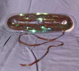 Bild 1 Paillettenband Pailletten Braun irisierend 6 mm breit