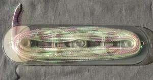 Bild 1 Paillettenband Pailletten Weiß irisierend 6 mm breit