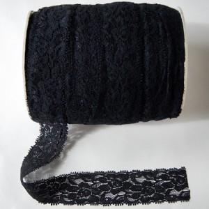 Bild 1 Elastische Spitze Schwarz 4 cm breit Nr. 51