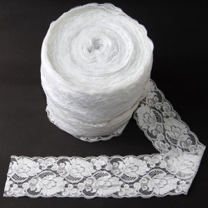 Bild 1 Elastische Spitze Weiss 8 cm breit Nr. 52