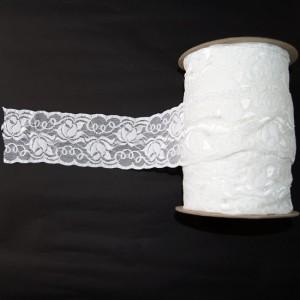 Bild 1 Elastische Spitze Weiss 7 cm breit Nr. 54