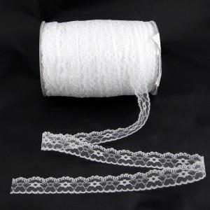 Bild 1 Nichtelastische Spitze Weiß 2,5 cm breit Nr. 34