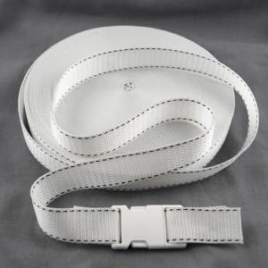 Bild 1 Gurtband Taschengurt Weiß mit Faden 25 mm breit