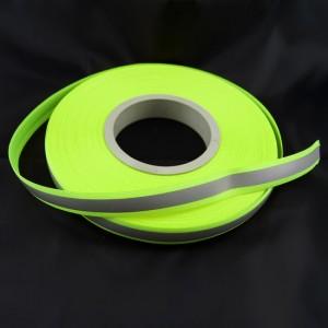 Bild 1 Reflektorband Leuchtband Silber/Grün 20 mm breit