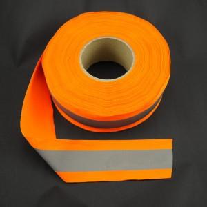 Bild 1 Reflektorband Leuchtband Silber/Orange 60 mm breit
