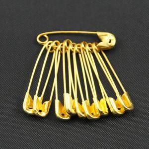 Bild 1 10 Stück Sicherheitsnadeln Gold ca. 22 mm