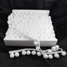 Bild 1 Bommelborte Pomponborte Weiß 35 mm breit