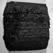 Bild 1 Fransenborte Drellierfranse Schwarz 60 mm breit