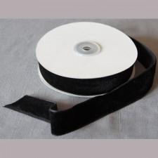 Bild 1 Samtborte Schwarz 25 mm breit