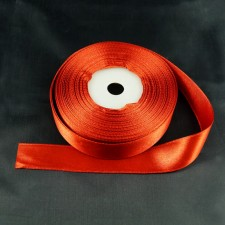Bild 1 Satinband Weinrot 20 mm breit