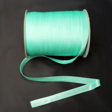 Bild 1 Schrägband Satin Mintgrün 15 mm breit