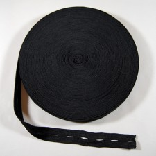 Bild 1 Lochgummiband / Lochgummi Schwarz 25 mm breit