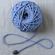 Bild 1 Kordel Baumwolle Hellblau 3 mm