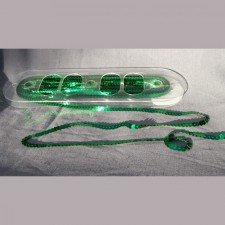 Bild 1 Paillettenband Pailletten Grün 6 mm breit