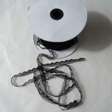 Bild 1 Nichtelastische Spitze Schwarz 1,5 cm breit Nr. 12