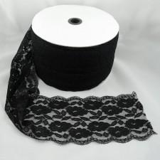 Bild 1 Elastische Spitze Schwarz 15,5 cm breit Nr. 137