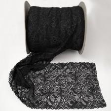 Bild 1 Elastische Spitze Schwarz 18 cm breit Nr. 163