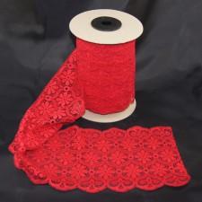 Bild 1 Elastische Spitze Rot 16 cm breit Nr. 87