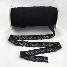 Bild 1 Elastische Spitze Schwarz 2,7 cm breit Nr. 89