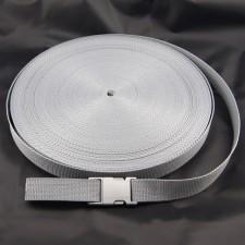 Bild 1 Gurtband Taschengurt Grau 25 mm breit