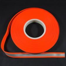 Bild 1 Reflektorband Leuchtband Silber/Orange 20 mm breit