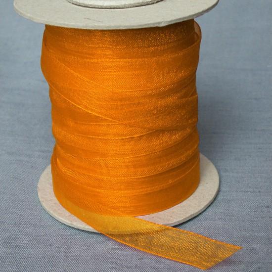 Spitzen, Spitzenbänder, Meterware Organzaband Orange 12 mm ...