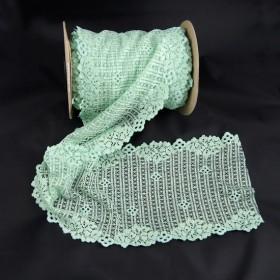 Elastische Spitze Mintgrün 15,5 cm breit Nr. 105