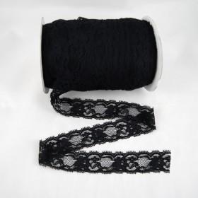Elastische Spitze Schwarz 3,5 cm breit Nr. 120