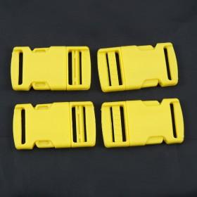 Gurtband - Steckschließer Gelb 25 mm breit. Kaufeinheit: 1 Stück